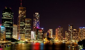 image of Brisbane 'Bris-Vegas' at night